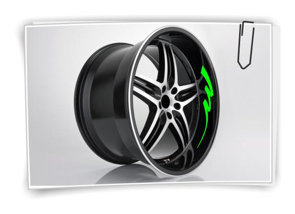 Universal Felgen Rand Aufkleber 6m x 5mm Gelb Auto Motorrad Roller Felgenrandaufkleber Felgenaufkleber