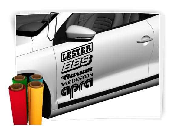 10 X Sponsorenaufkleber Decals Aufkleber Rally 15cm