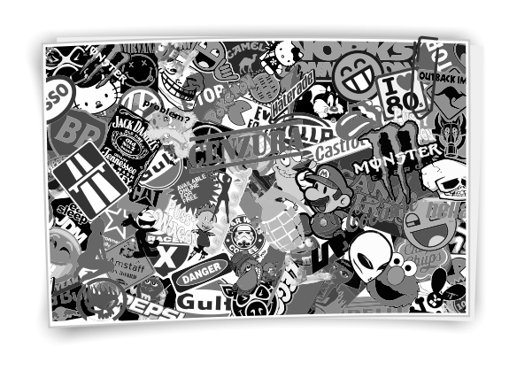 stickerbomb folie autofolie sticker bomb car wrapping. Black Bedroom Furniture Sets. Home Design Ideas