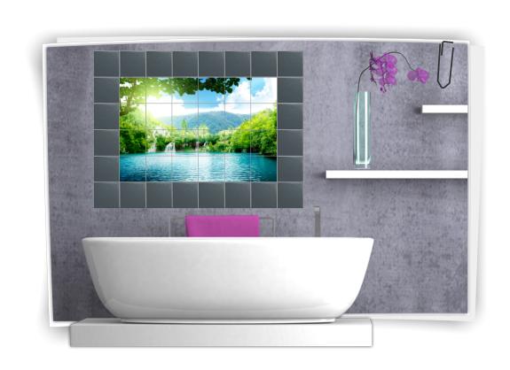 Autocollants pour carrelage mural sticker salle de bain - Carrelage mural autocollant ...