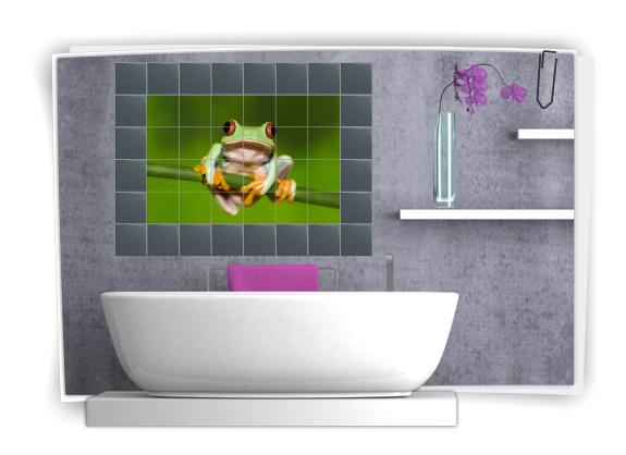 Adesivo per piastrelle immagine sticker stanza da bagno for Adesivi murali per bagno
