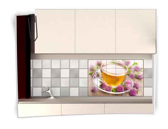 Adesivi per piastrelle da cucina con immagine di tea - Adesivi per piastrelle cucina ...