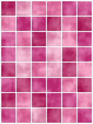 20x25cm Pink Rosa Piastrelle Adesivo Per Mattonelle Finte