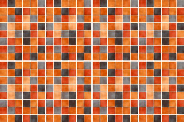 20x25cm orange fliesenaufkleber fliesen aufkleber fliesenimitat mosaik m5 - Selbstklebefolie mosaik ...