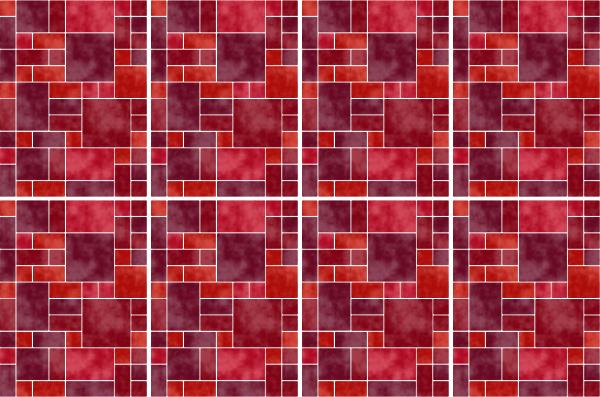 15x20cm rot fliesenaufkleber fliesen aufkleber fliesenimitat mosaik m8 - Selbstklebefolie mosaik ...