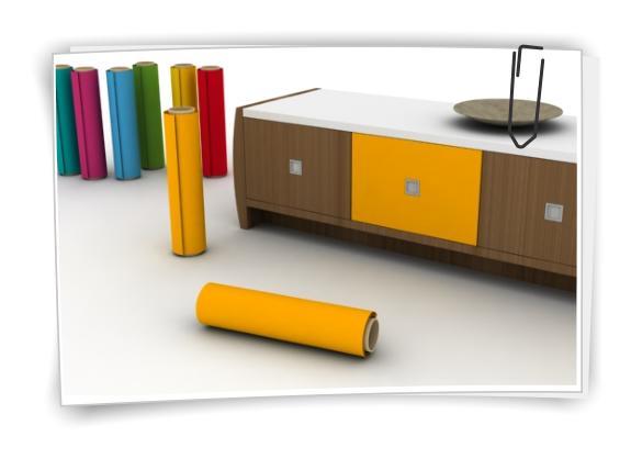 3 m pellicola per mobili colorata plotter adesiva decorativa esempio oro giallo ebay - Carta adesiva colorata per mobili ...