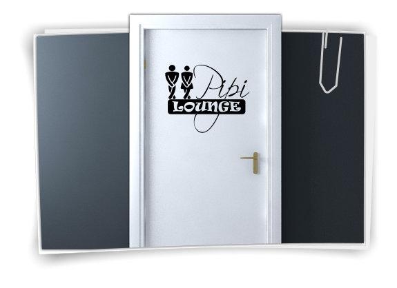 Salle de bain autocollants porte toilettes sticker panneau for Autocollant porte wc
