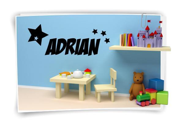 bis 100cm Wunschname Name Kindername Zimmer Aufkleber Sticker Wandtattoo No.10