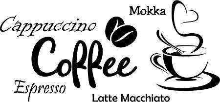 coffee kaffee wandaufkleber aufkleber k che sticker wandtattoo tattoo. Black Bedroom Furniture Sets. Home Design Ideas