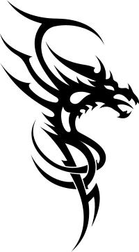 dragon drache wandtattoo wandfolie wandaufkleber aufkleber tattoo tribal china 2. Black Bedroom Furniture Sets. Home Design Ideas