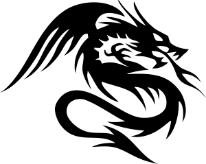 dragon drache wandtattoo wandfolie wandaufkleber aufkleber tattoo banner wand 6. Black Bedroom Furniture Sets. Home Design Ideas