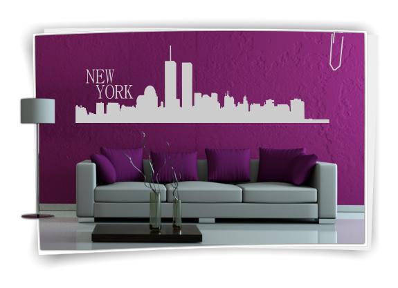 Xxl wandtattoo skyline new york usa wandaufkleber for New york zimmer deko