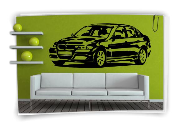 Wandtattoo bmw m3 x3 sticker auto wandfolie wandaufkleber for Selbstklebende wandfolie shop