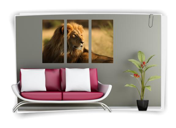 Digitaldruck afrika wandaufkleber wandbild aufkleber for Deko wandbilder